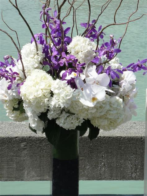 purple and white centerpieces for weddings purple white floral wedding centerpieces wedding