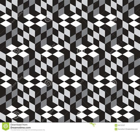 optical pattern photography cubes optical illustion vector seamless pattern royalty