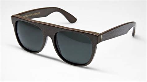 kacamata hitam unik flat top leather sunglasses flagig