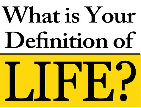 photo biography definition what is your definition of life