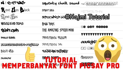 tutorial make up picsay pro memperbanyak font di picsay pro tutorial 8 youtube
