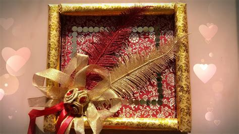 How to make Wedding Gift Tray   DIY   Tray Decoration idea
