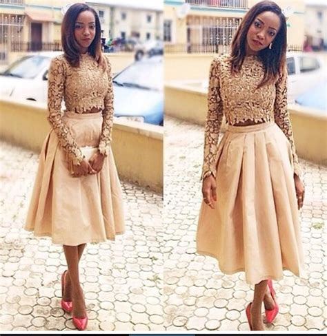 New Lace High Waisted Munafie Slim Celana Renda Kawat 3 chagne lace two pieces prom dresses sleeves high neck crop top vintage tea length