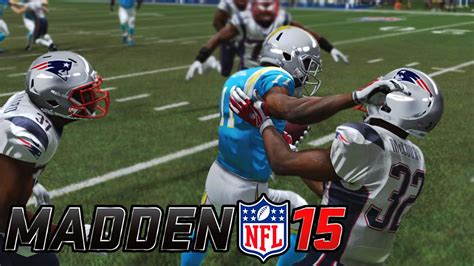 patriots v chargers 2014 madden 15 new patriots vs san diego chargers