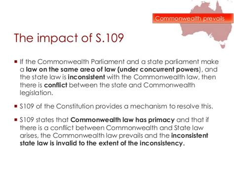 what section of the constitution states why it was written inconsistency in the australian constitution cases