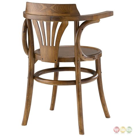 Rustic Modern Dining Chairs Stretch Modern Rustic Solid Wood Seat Dining Side Chair Walnut