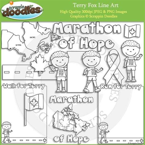 coloring pages terry fox terry fox line art my art pinterest terry o quinn