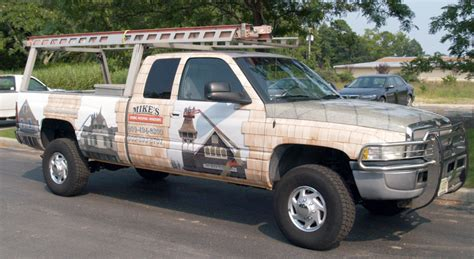Nyc Wall Murals dodge ram pickup full vinyl wrap roofing and siding beach