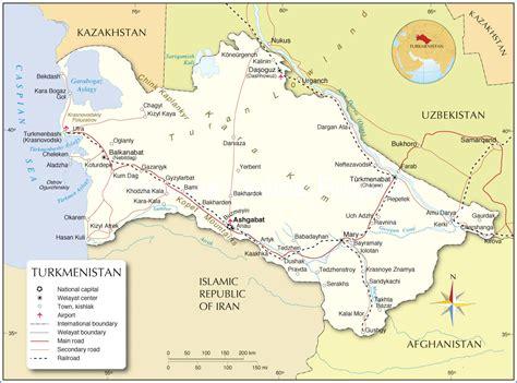 turkmenistan physical map printable turkmenistan map map of turkmenistan