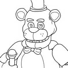 Five nights at freddy s para pintar e imprimirdesenhos do jogo five