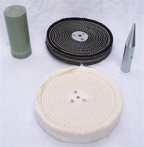 bench grinder rag wheel buffing polishing kit c w arber ebay
