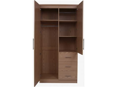 Wardrobe Drawers by Gfw Manhattan Oak 2 Door 3 Drawer Wardrobe With Mirror By Gfw
