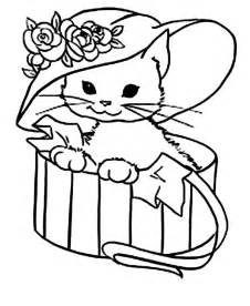 kitty cat coloring pages bestofcoloring