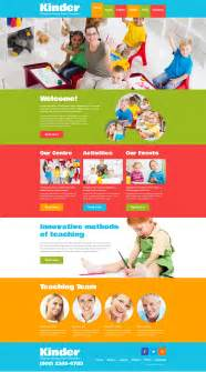 templates for children center responsive website template 48443