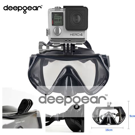 Tempered Glass Gear Sport New deepgear mount scuba diving mask tempered glass profession snorkel mask top underwater