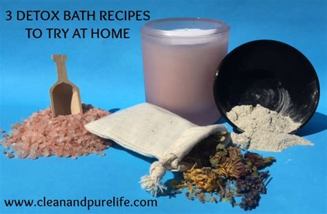 how to take a detox bath at home clean and