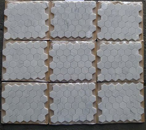 bianco carrara white marble honed 2 quot hexagon mosaic tile for bathroom kitchen and floor
