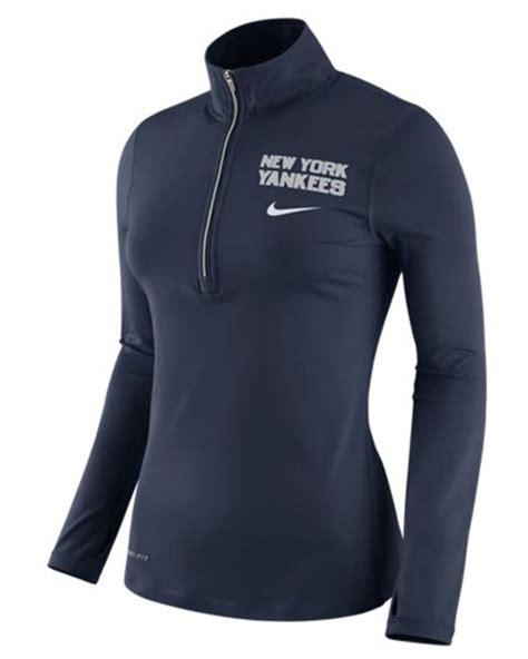 Sweater Sweatshirt Yankees Nike Terlaris nike s new york yankees element pullover in black navy lyst