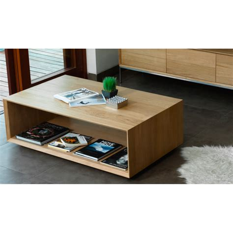 Table Basse En Chene Massif by Table Basse Contemporaine Kobi Ch 234 Ne Massif Atout Mobilier