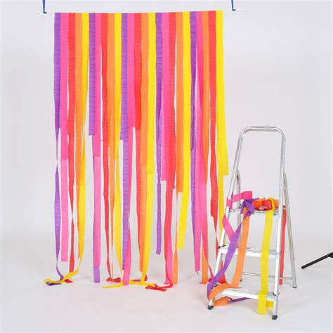 How To Make Paper Streamers - brights crepe paper streamers 10pk by setter