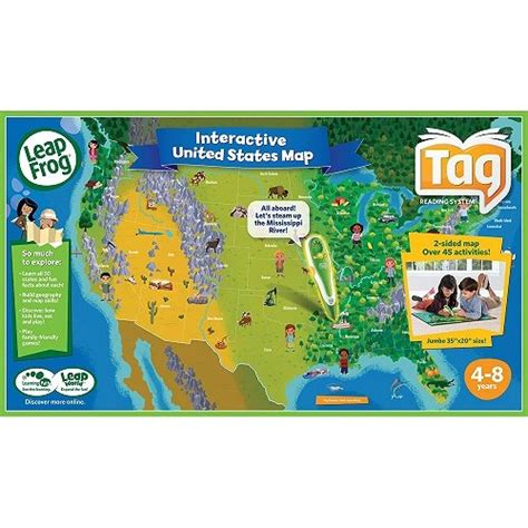 leapfrog leapreader interactive us map puzzle leapfrog interactive united states map thefreebiedepot