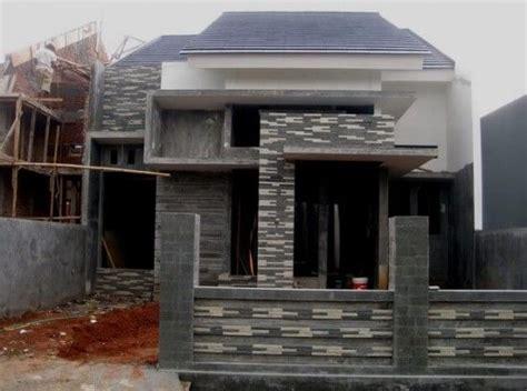 contoh teras rumah  batu alam batu alam