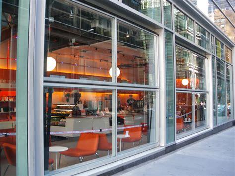 doors new york restaurants new york restaurant uses 2 glass covered bifold doors on