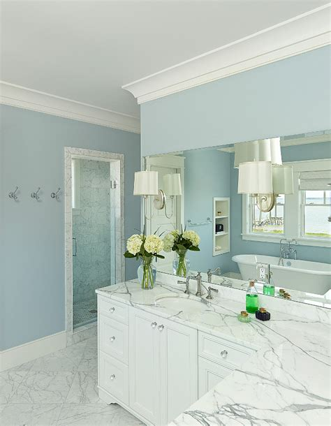 Blue Paint Bathroom by South Carolina House Home Bunch Interior Design Ideas