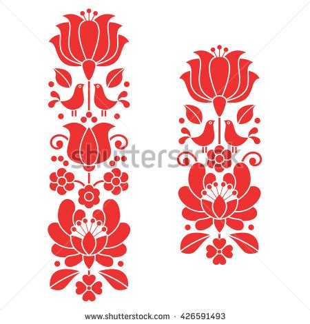 folk art pattern vector hungarian stock photos images pictures shutterstock