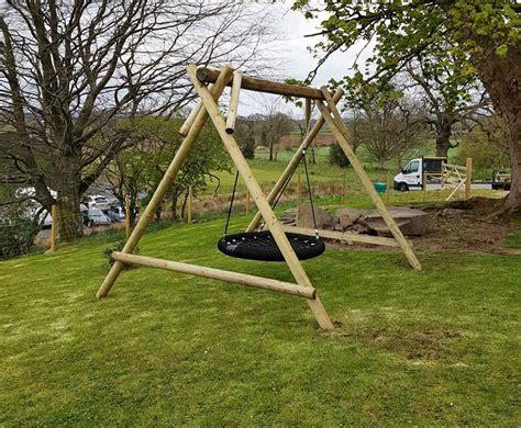 swing description family basket swing wooden garden play equipment