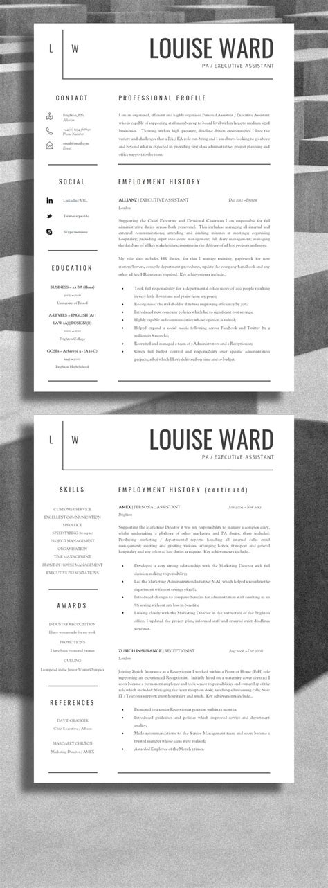 Layout Of A Resume by 25 Best Ideas About Cv Template On Layout Cv