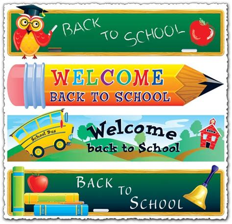 cute themes for school welcome back to school vector