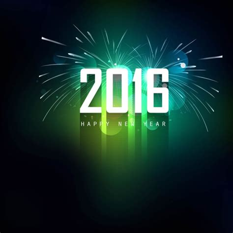 new year green green new year fireworks background vector free