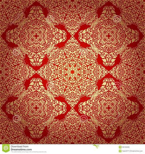 ottoman motifs seamless pattern in mosaic ethnic style royalty free