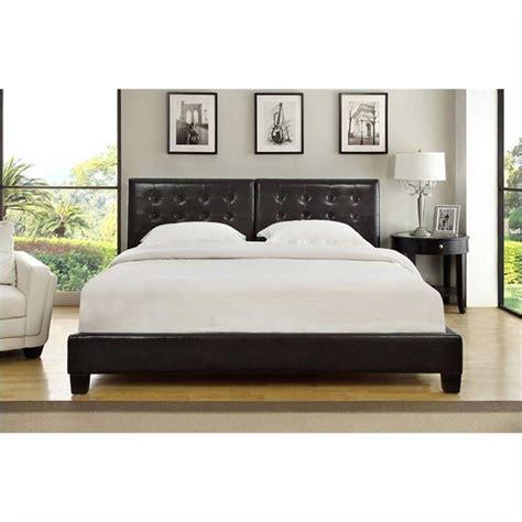 Modus Furniture Ledge Upholstered Platform W Tufted Tufted Headboard Platform Bed