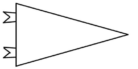 blank pennant template be still and create bowl activities for the
