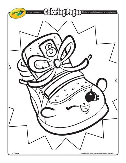 Crayola Shopkins Coloring Pages shopkins sneaky wedge coloring page crayola