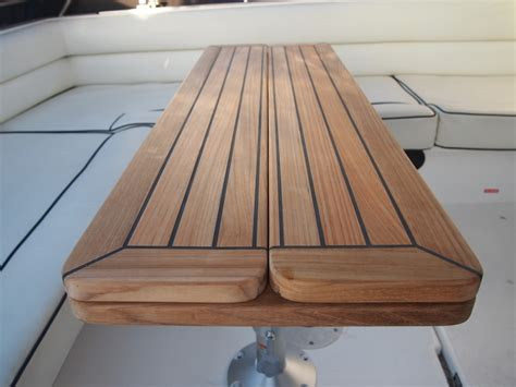 folding boat tables uk teak table nautic star quot wing quot five sizes marine boat