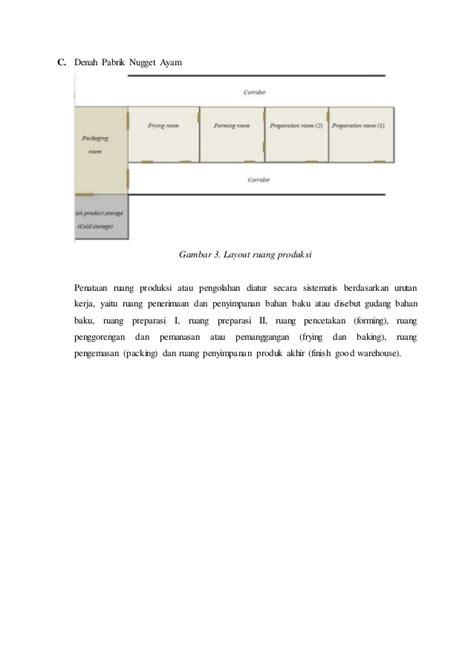 layout pabrik pengolahan ikan rancangan pabrik nugget ayam