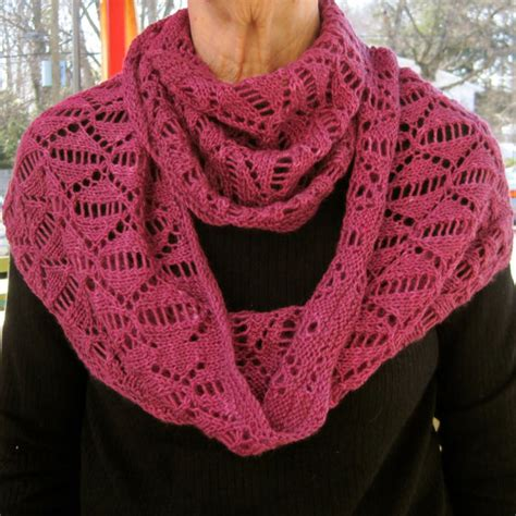 knitting pattern spring scarf knit cowl pattern dreaming of spring lace cowl infinity