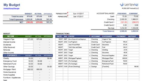weekly budget planner  money manager