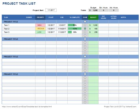 Task List Template Excel Calendar Monthly Printable Calendar Task List Template