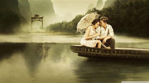 true love couple wallpaper hd full hd wallpaper boat umbrella couple romantic desktop