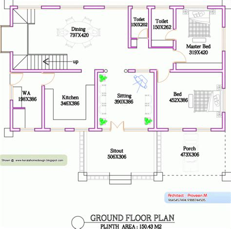 ground floor house plans 1000 sq ft kerala home plan and elevation 2800 sq ft architectural drawings kerala home