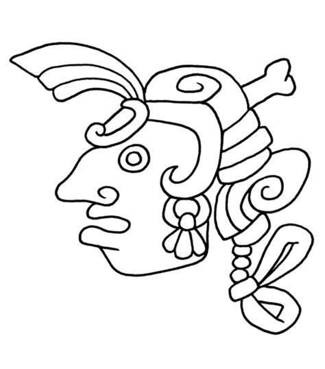 imagenes mayas faciles colorear arte azteca arte colorear pinterest