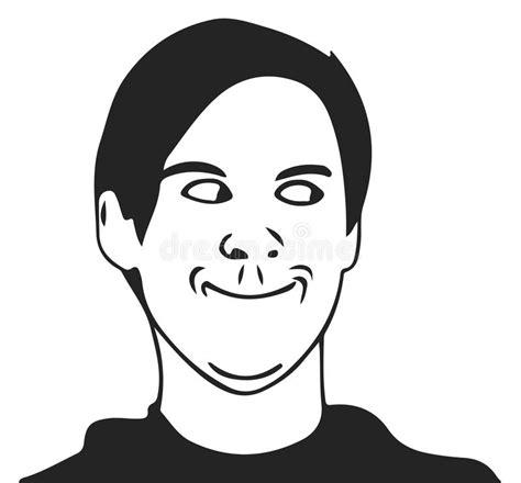 Troll Guy Meme - vector troll guy meme face for any design eps 10 stock