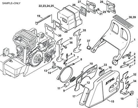 stihl ms250 parts diagram stihl chainsaw parts diagram 031 av carburetor 026