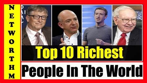 top 10 richest in the world 2018 billionaires list 2018