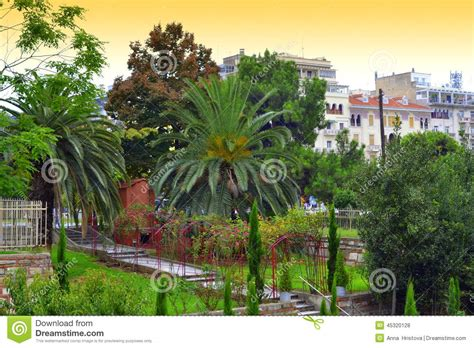 Downtown At The Gardens Times by Downtown Garden Thessaloniki Stock Photo Image 45320128