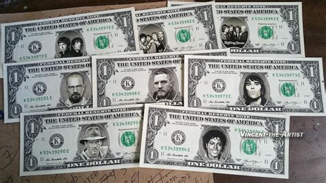 bca currency one 1 celebrity dollar bill made of money celebrities